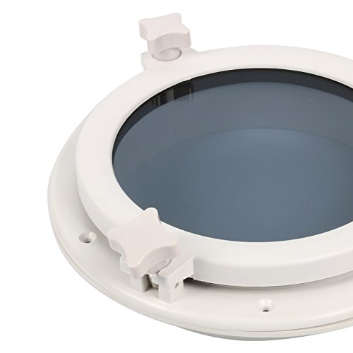 Amarine-made-Boat-Yacht-Round-Opening-Portlight-Porthole-10-Replacement-Window-Port-Hole-ABS-White-Tempered-Glass-Marineboatrv-Portlight-Hatch