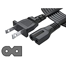 [UL LISTED] Pwr+ 12Ft 2 Prong Polarized Power Cord for Arris Router Modem; Vizio, Sharp Sanyo Emerson TV; Sony PlayStation 1 2 PS1 PS2; Bose Companion 3 5 Speaker Audio System AC Wall Cable