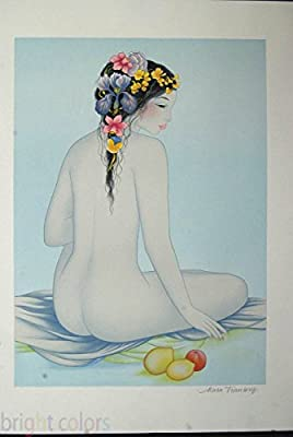 Mara Tran-Long Isabelle Asian Nude Woman Signed Lithograph