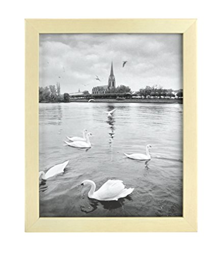 - Golden State Art, 8x10 Inches Wood Picture Frame with Real Glass, Made to Display 8x10 Picture, Color: Cream