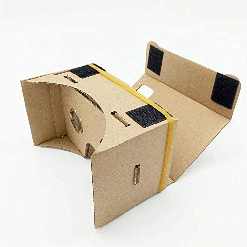 Google Cardboard,Virtual Real Store 3D VR Headsets DIY Virtual Reality Box Glasses with Clear Optical Lens and Comfortable Head Strap for All 4-6 Inch Smartphones(Starter DIY, 1 Pack) 41WLUHcqWqL