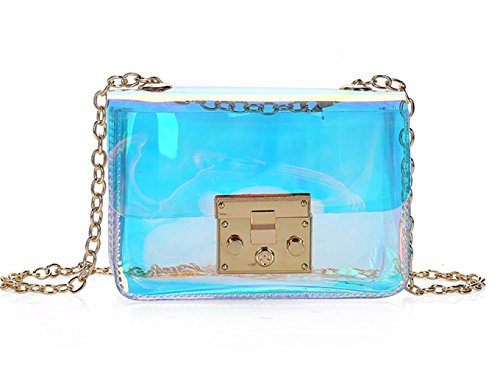 Purse Mini Crossbody Clear Women's Holographic Transparent Bag Shoulder tRAwPq6Rxn