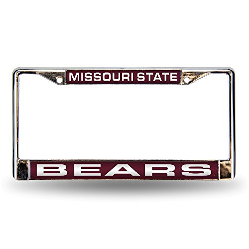 Rico Industries NCAA Missouri State Bears Laser Cut Inlaid Standard License Plate Frame, Chrome, 6