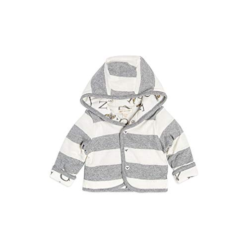 (Burt's Bees Baby Unisex Baby Sweatshirts, Lightweight Zip-Up Jackets & Hooded Coats, Organic Cotton, Heather Grey ABC Reversible, 6-9 Months)