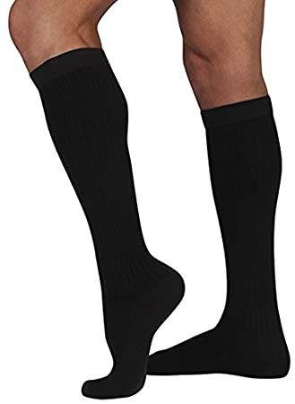 e558fa4a23 Image Unavailable. Image not available for. Color: Juzo Men's Dynamic Cotton  15-20 mmHg Knee High Compression Socks ...