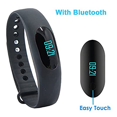 Smart Bracelet, YAMAY® Bluetooth Smart Band Fitness Tracker Touch Screen for Android iOS iPhone Activity Tracker Stopwatch Pedometer Sleep Monitor Calories Burned Text Message for Running Women Men