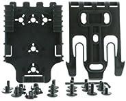 Safariland QLS Kit, (1 ea.) QLS 19 Fork & (2 ea.) QLS 22 Receivers Holsters, Black, Single Kit Only, One S