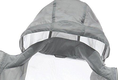 Vento Upf30 Maschile Giacca Essiccazione Pelle Grey Contro Sottile Outdoor A 6w8xUfw4