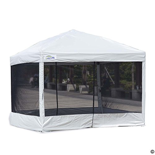 Goutime 10 x 10 Ft Pop Up Canopy Tent with Mesh Side Walls,