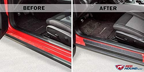 2015-2018 Dodge Challenger 2pc Door Sill Step Protector Threshold Shield Pads