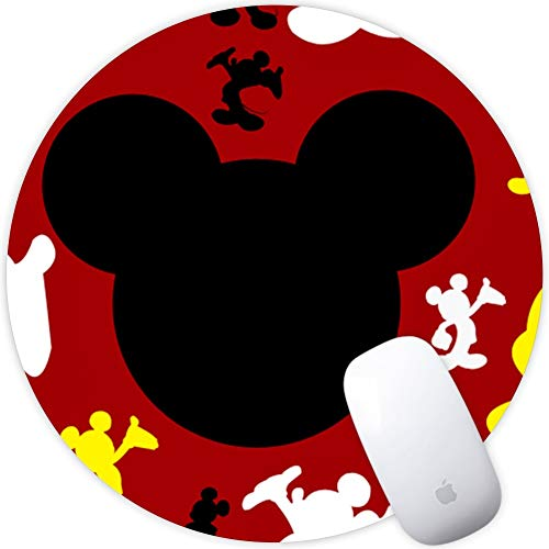 (DISNEY COLLECTION Round Mouse Pad Few Mickeys Light Slim Skid Proof High Mouse Tracking for Office, Gaming and Home)