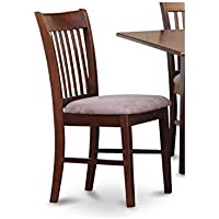 Dining Chair with Upholstered Seat - Set of 2