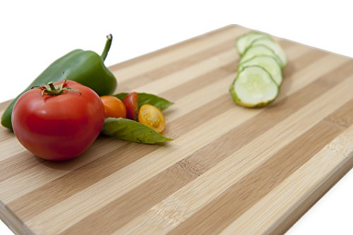 Boards Bamboo Striped - Bamboo Cutting Board for Carving Meat and Cheese. Charcuterie Platter. (15