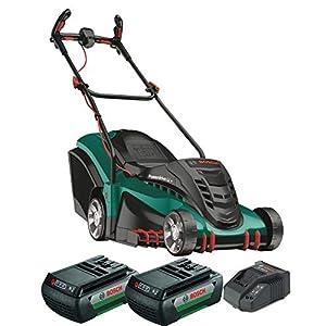 Bosch Home and Garden 06008A450D Rotak 430 LI Rasaerba a 2 Batterie, 78.5 x 40.7 x 48.8 cm, Cesto 50L, 36 V, Verde… 7 spesavip