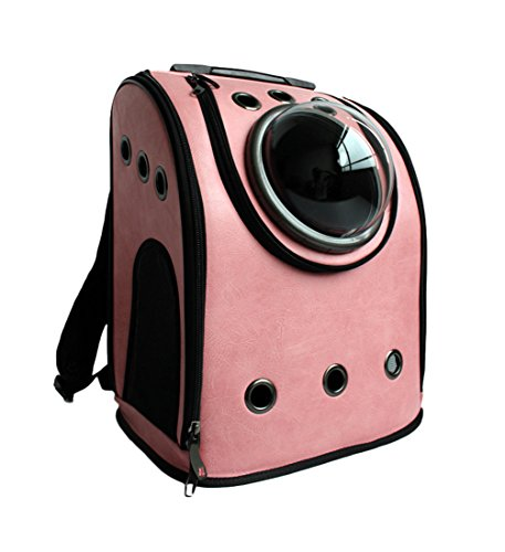 Costumes Staffies In (Uniquorn Astronaut Capsule Pet Backpack Transparent Breathable Pet Backpack Outdoor Travel Bag Suitcase)