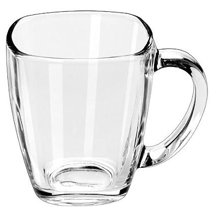 amazon com libbey 14 ounce clear tempo square mug set of 12 set