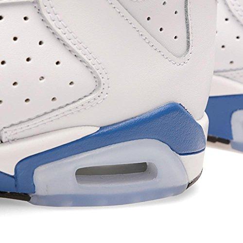 Nike Grade-school Air Jordan Vi 6 Retro Bianco / Sport Blu-nero 384665-107 Scarpa