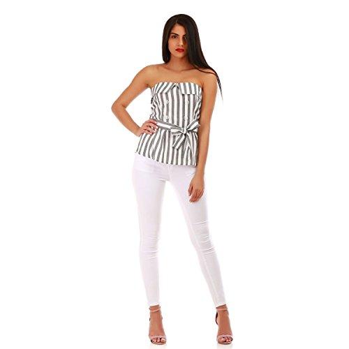 La Classique Coupe Modeuse Blanc Jeans Skinny zxSzqr