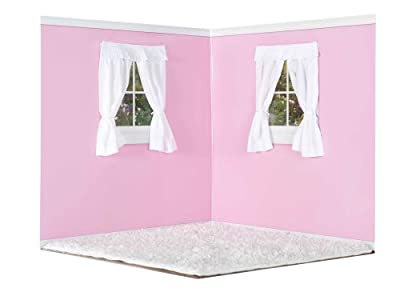 American Doll Room Pink With White Carpet Free Duffel Bag For Accessories by American Doll Rooms