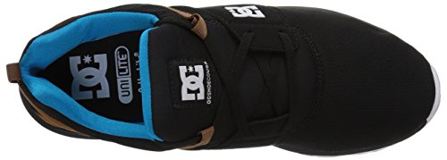 Dc Heren Heathrow Casual Skate Schoen Zwart / Turquoise / Wit