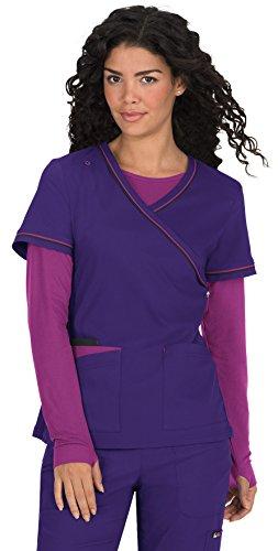 Lites Nursing Shoes - KOI Lite Women's Theory Mock Wrap Solid Scrub Top XXX-Large Grape