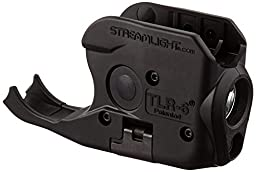 Streamlight 69275 TLR-6 Tactical Pistol Mount Flashlight 100 Lumen with Integrated Red Aiming Laser for Sig Sauer P238/P938, Black