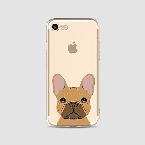 TPU silicone Housse Coque Pour iPhone 6 iPhone 6S, Ruirs Nice coloré d'impression mignons chien dog transparent transparent TPU téléphone étui pour iPhone 6 iPhone 6S 4.7inchs(Colour 11)
