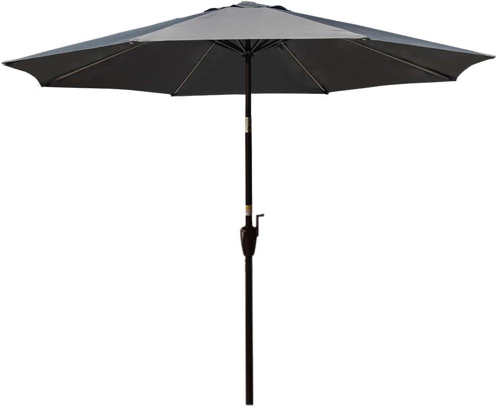 Deck Sundale Outdoor 7.2 ft Patio Umbrella Table Market Umbrella with Push Button Tilt /& Aluminum Pole Polyester Canopy for Garden Blue Backyard Pool