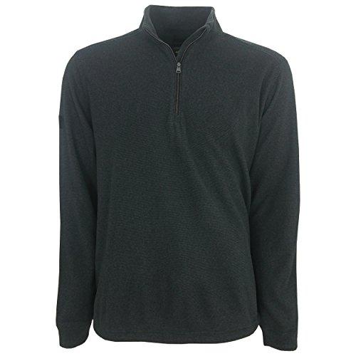 Greg Norman Golf Mock 1/4 Zip Fleece Pullover, X-Large Black Fleece Microfiber Sweater