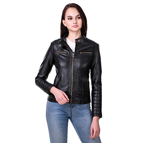 Leather Retail® Women's Full Sleeve Solid Jacket