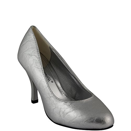 Silber v1043 cuir brillant de luxe Chaussure aspect en chaussure T40Ztwx8qx