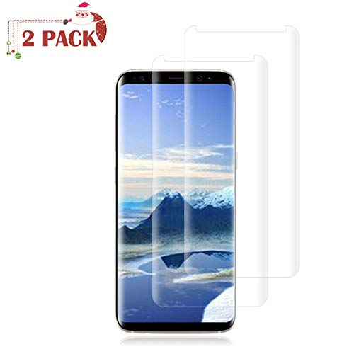 [2 Pack] Galaxy S8 Plus Screen Protector 9H Hardness/Anti-Scratch/Anti-fingerprint/3D Curved/High Definition/Ultra Clear Tempered BBInfinite Glass Screen Protector Compatible Samsung Galaxy S8 Plus (Galaxy S8 Plus Tempered Glass Screen Protector)