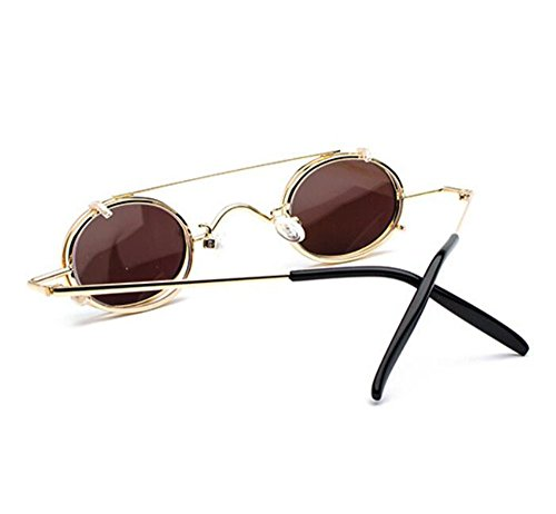 Azul sol vintage gafas mujeres y extraíbles punky de polarizado estilo Retro Dorado no ovales hippie hombres UV400 1PqdzAPwxa