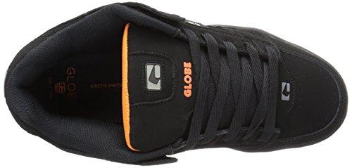 Globe Mens Scribe Skate Shoe Black/Black/Orange IgE6Mr1WKc