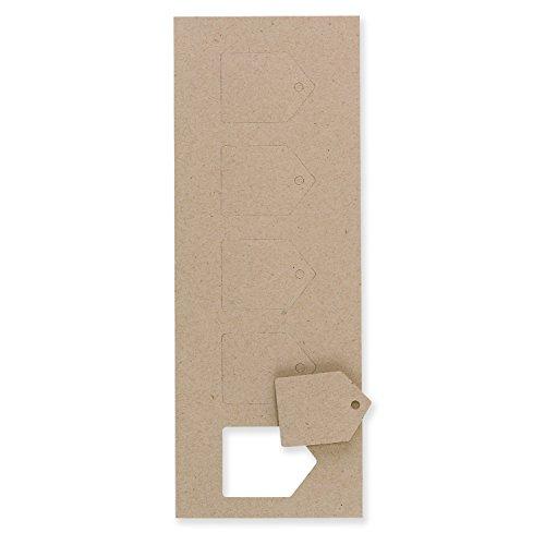 Etiquetas de regalo para fiestas, 10,16 cm de diámetro, etiquetas de círculo blanco de 250 unidades (RRFTLGCIRW), Kraft,...