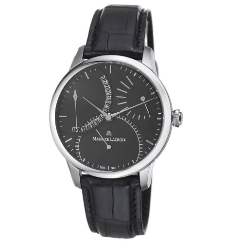 - Maurice Lacroix Men's MP6508-SS001330 Master Piece Black Date Dial Strap Watch