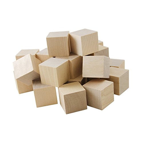 Wooden Cubes - 1 Inch - Wood Square Blocks For Puzzle Making, Crafts & DIY Projects (1