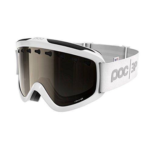 (POC Iris 3P Skiing Goggles, Regular, Hydrogen White Frame, Bronze/Silver)