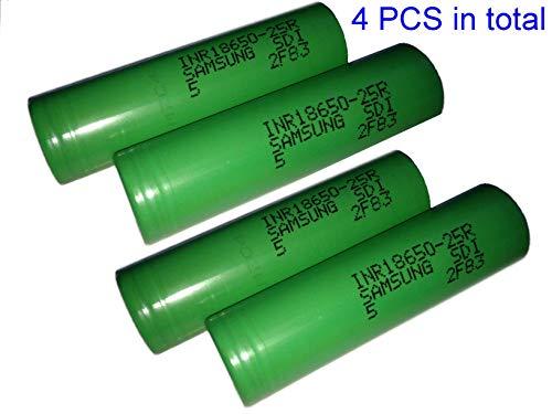 Best samsung inr18650-25r 2500 mah 20a battery