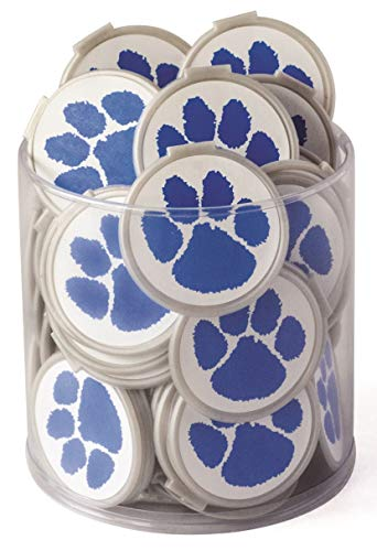 Mascot PAW Bookmarks - Blue Clip Over The Page Bookmarks - 75 Pack - Bulk Bookmarks for Kids Girls Boys. Perfect Student Incentives Prizes Party Favors Classroom Rewards & Reading Awards!