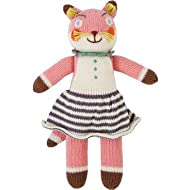Blabla Suzette The Fox Mini Plush Doll - Knit Stuffed Animal for Kids. Cute, Cuddly & Soft Cotton Toy. Perfect, Forever Cherished. Eco-Friendly. Certified Safe & Non-Toxic.