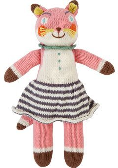 (Blabla Suzette the Fox Mini Plush Doll - Knit Stuffed Animal For Kids. Cute, Cuddly & Soft Cotton Toy. Perfect, Forever Cherished. Eco-Friendly. Certified Safe & Non-Toxic.)