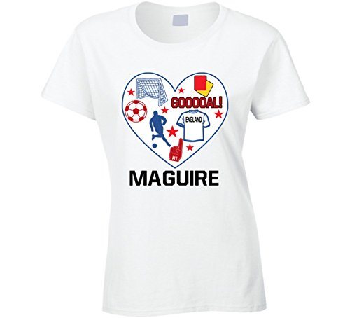 Harry Maguire Heart Mashup England World Cup 2018 Football Ladies T Shirt 2XL White