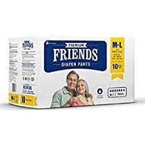 Friends Adult Pullups Medium to Large 10 Count