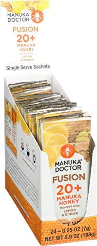 Manuka Doctor 20+ Honey Lemon & Ginger Fusion Sachet, 24 Count