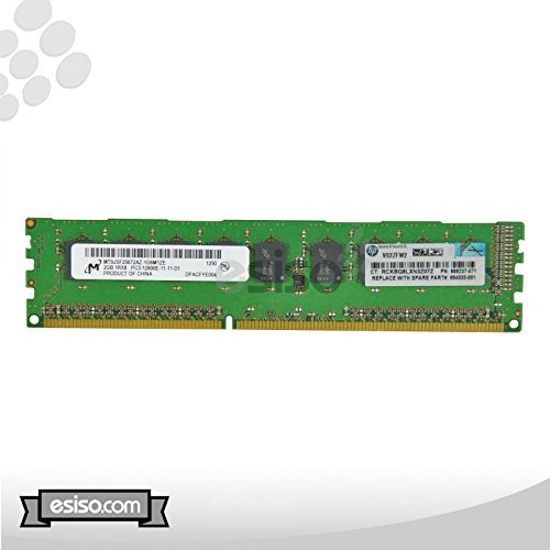 - HP 4GB Kit (2x 2GB) 1RX8 PC3-12800E DDR3-1600 1.5V Unbuffered ECC Dual In-line Memory Module For Gen 8 G8