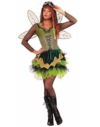 Forum Novelties Women's Steampunk Fairytales Sprocket Pixie Costume, Green, X-Small/Small