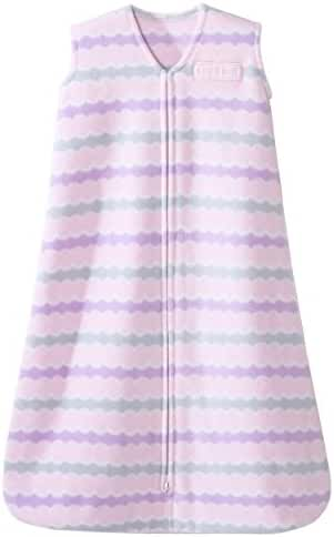 HALO SleepSack Micro-Fleece Wearable Blanket, Pink Waves, Medium