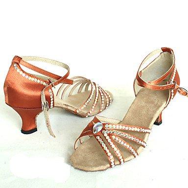 LvYuan Mujer-Tacón Stiletto-Otro-Sandalias-Vestido-Satén-Negro Azul Rojo Marrón Claro light brown