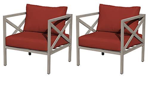 TK Classics TKC065b-CC-DB-TERRACOTTA Carlisle Club Chair 2 Per Box, Terracotta